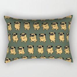 Pug Air Squats Rectangular Pillow