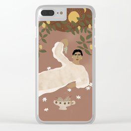 Greek Life Clear iPhone Case