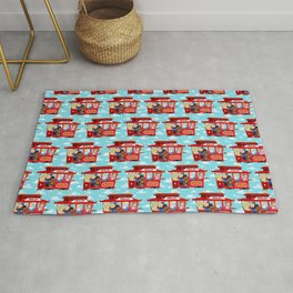 trolley to the land of make believe Rug
