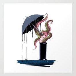 Ink rain Art Print