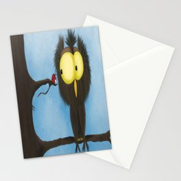 Oliver the Owl and his Visitor Stationery Cards