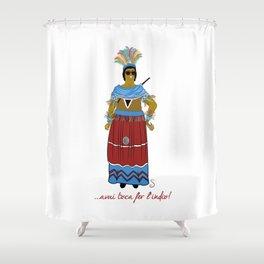 Avui toca fer l'indio Shower Curtain
