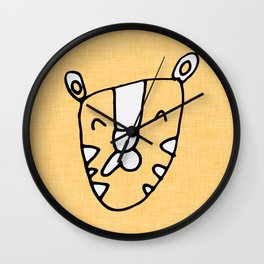Safari Tiger Yellow Wall Clock