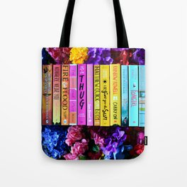 Rainbow Book Spines Tote Bag
