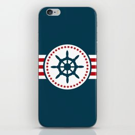 Sailing wheel 2 iPhone Skin