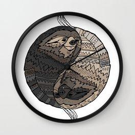 BALANCE IN SLOTH Wall Clock