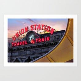 Denver Union Station Travel by Train Art Print