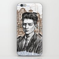 kafka iPhone & iPod Skins featuring Kafka by Nina Palumbo Illustration