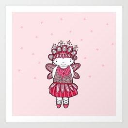 Pink Angel Art Print