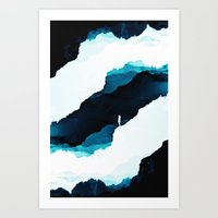 teal Art Prints featuring Teal Isolation by Stoian Hitrov - Sto