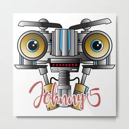 Johnny 5 Short Circuit Metal Print
