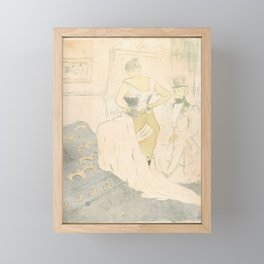 Fastening a Corset – A Passing Conquest, from the series Elles,1896 Framed Mini Art Print