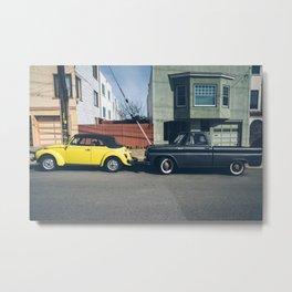 Vintage Cars and Colors in SF 4 Metal Print