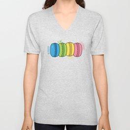 Rainbow Macaroons Unisex V-Neck