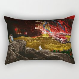 The Destruction of Sodom and Gomorrah Landscape Painting by Jeanpaul Ferro Rectangular Pillow