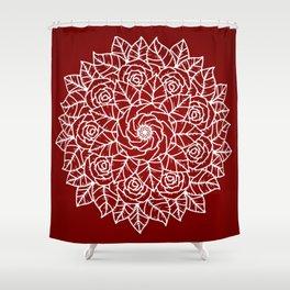 RED MANDALA Shower Curtain
