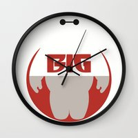 big hero 6 Wall Clocks featuring Baymax Big - Big Hero 6 by Dwieta Kreavi