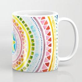 Rainbow Chakra Watercolor Mandala Coffee Mug