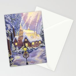 Warm Christmas Stationery Cards