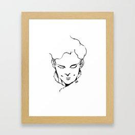 BLOW MY MIND. Framed Art Print