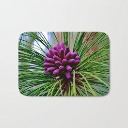 Purple Pine Cones Bath Mat