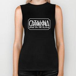 Catalina Made on the Island - Black/White Biker Tank