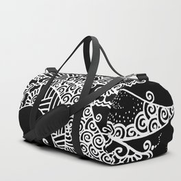 Zen Tree Rebirth Black Right Half Duffle Bag