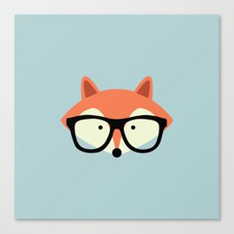 Hipster Red Fox Canvas Print