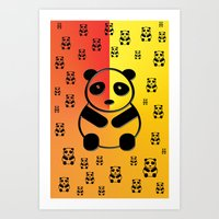 pandas Art Prints featuring Pandas by Gaspar Avila