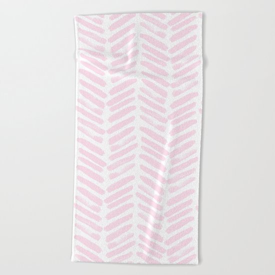 Handpainted Chevron pattern Beach Towel
