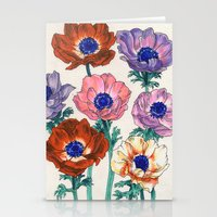poppies Stationery Cards featuring poppies by Ania