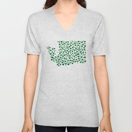 WA State Hearts - Evergreen Palette Unisex V-Neck