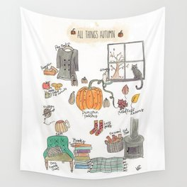 All Things Autumn Wall Tapestry