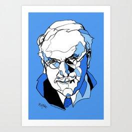 Swiss Psychiatrist Carl Jung Art Print