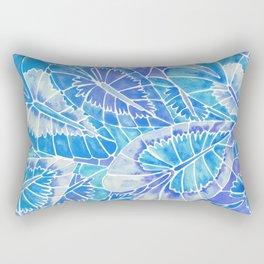 Schismatoglottis Calyptrata – Blue Palette Rectangular Pillow