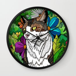 Ellie in the woods Wall Clock