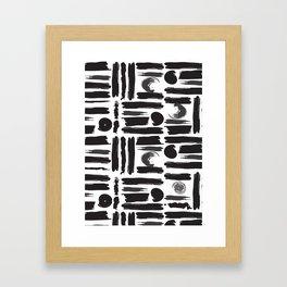 ABSTRACT BRUSHES Framed Art Print