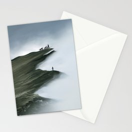 Foggy Landscape Digital Painting Stationery Cards