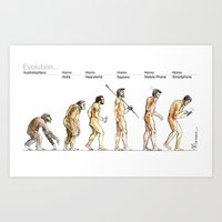 evolution Art Prints featuring Evolution... by Luca Massone
