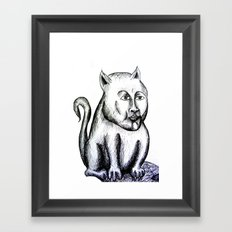 Cat being Framed Art Print