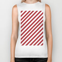 Candy Cane - Christmas Illustration Biker Tank