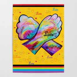 American Sign Language LOVE Poster
