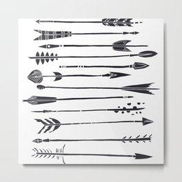 Narrow Boho Arrows Metal Print