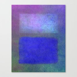 After Rothko Blue Canvas Print