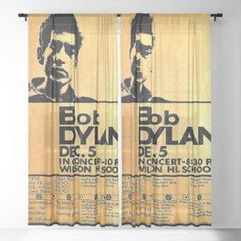 Vintage 1964 Bob Dylan at Wilson High School Poster Sheer Curtain