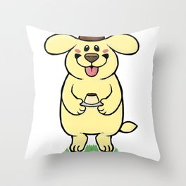 Pudding Pup Throw Pillow
