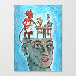 An Idle Mind Is The Devil's Workshop Canvas Print