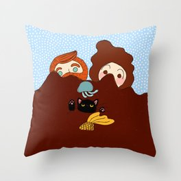 Alien Spotted! Throw Pillow