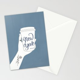 New York Coffee Poster Stationery Cards