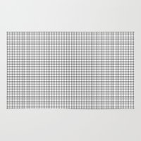 grid Area & Throw Rugs featuring Grid by Georgiana Paraschiv